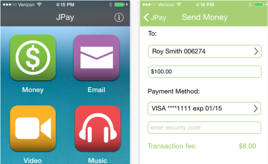 JPay mobile Apple iOS